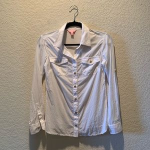 Lily Pulitzer white button front, size 0